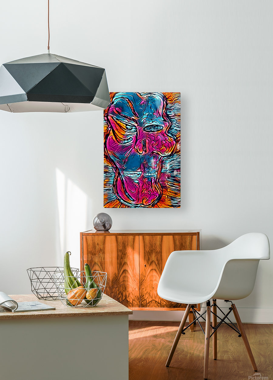 limeface  HD Metal print with Floating Frame on Back