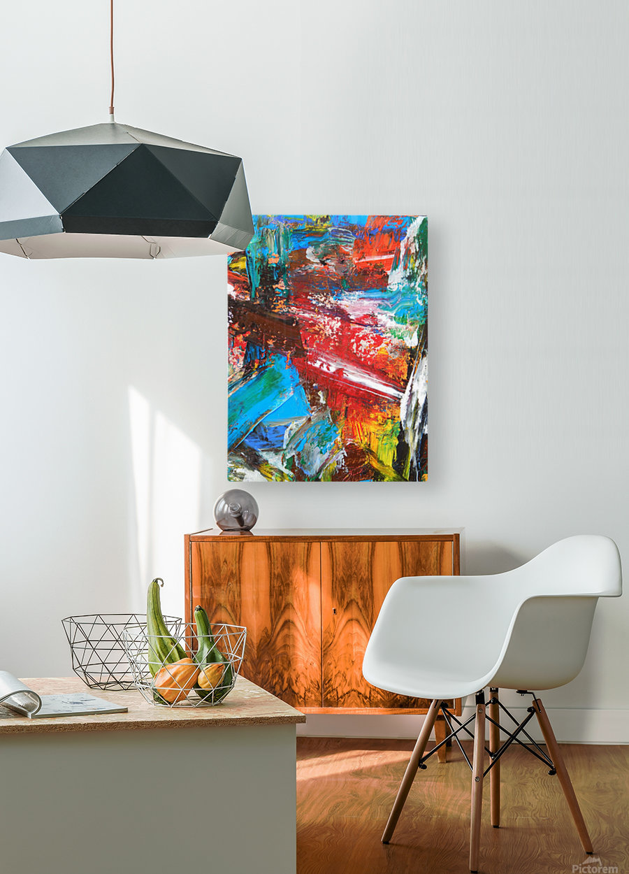 COLOR  HD Metal print with Floating Frame on Back