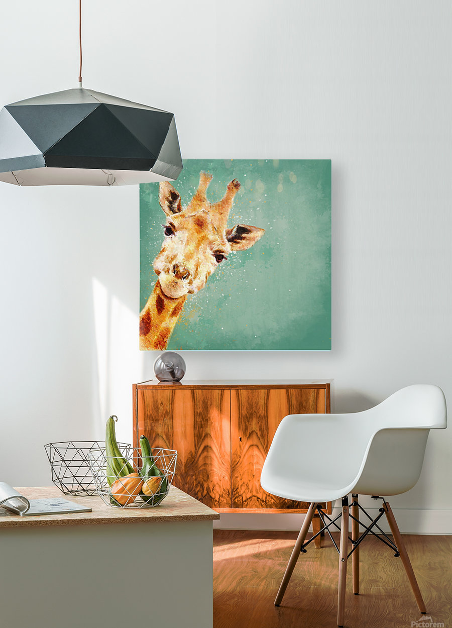 Girafeau  HD Metal print with Floating Frame on Back