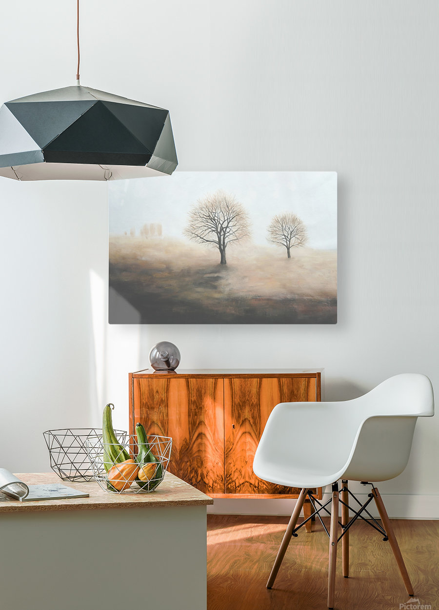 Foggy  HD Metal print with Floating Frame on Back