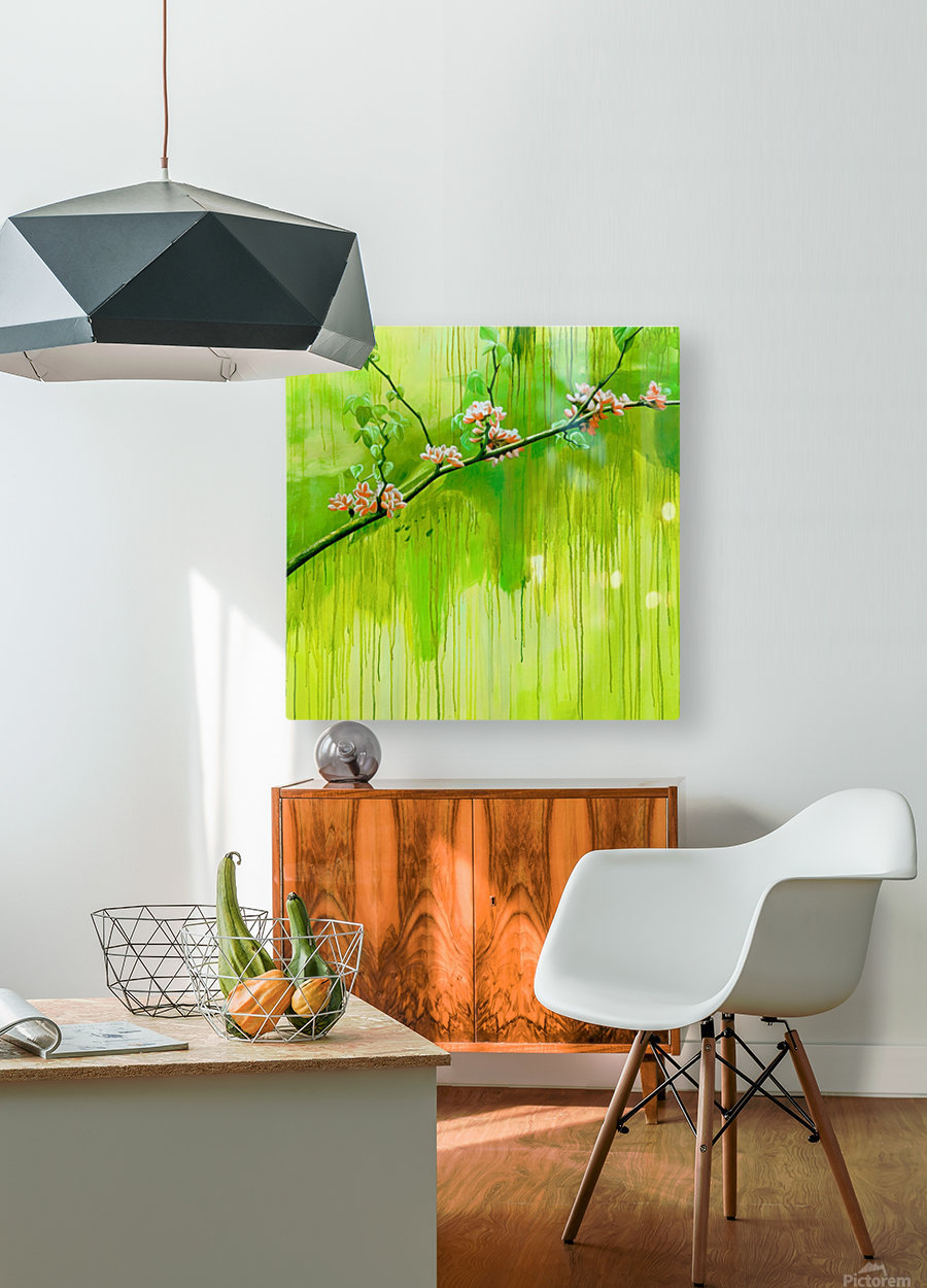 Green Spring  HD Metal print with Floating Frame on Back