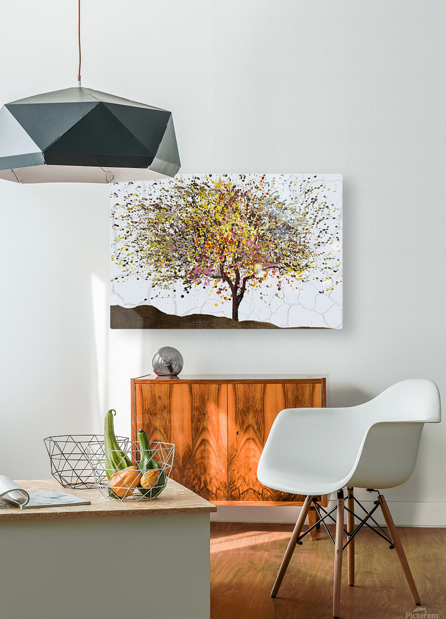 Spring  HD Metal print with Floating Frame on Back