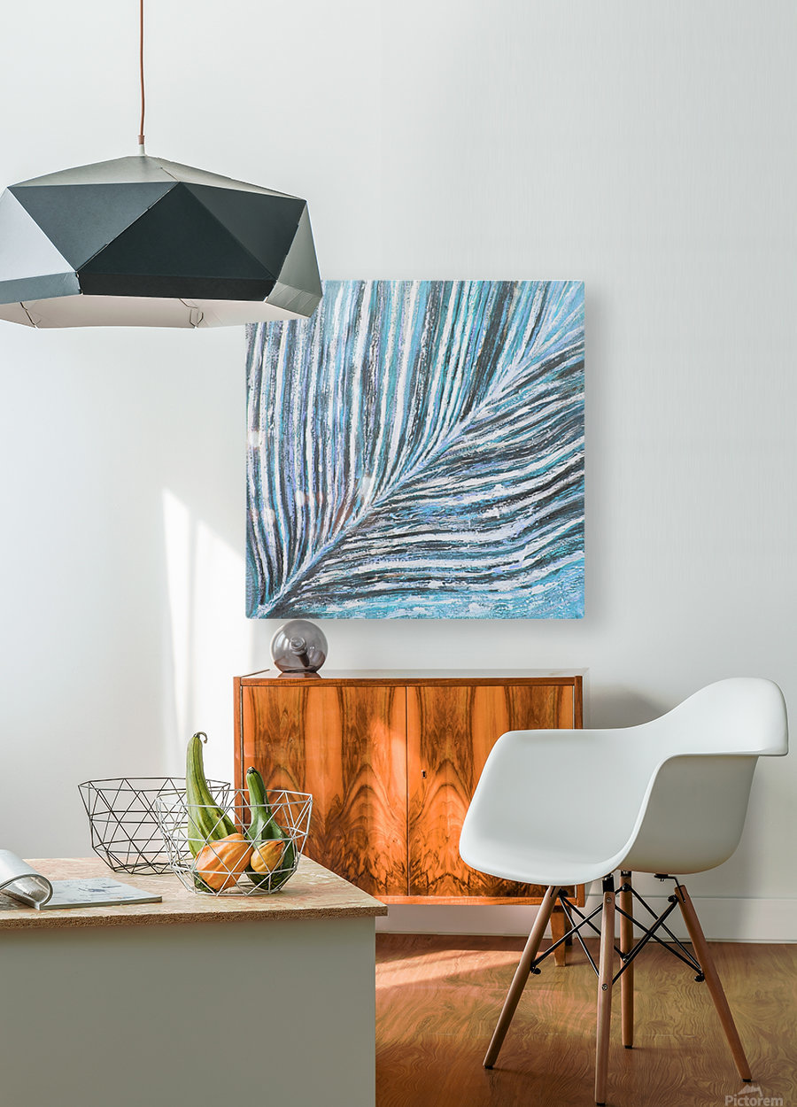 nervure  HD Metal print with Floating Frame on Back