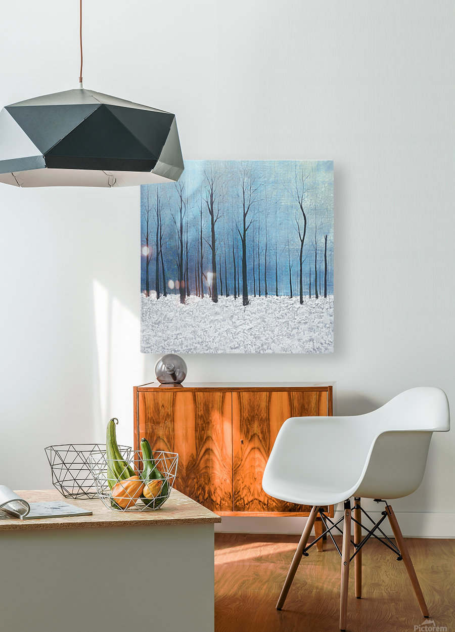 winter scenery  HD Metal print with Floating Frame on Back