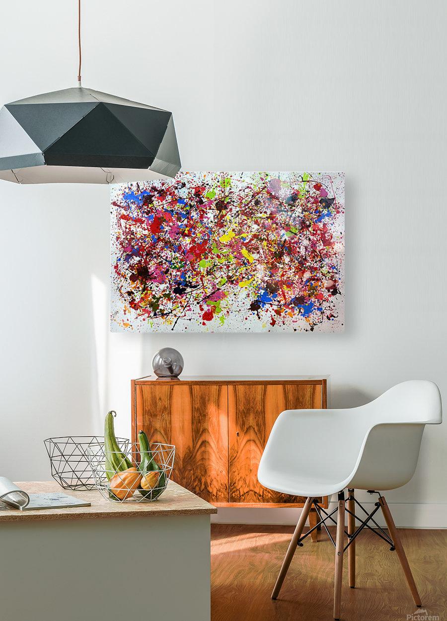 Splash  HD Metal print with Floating Frame on Back