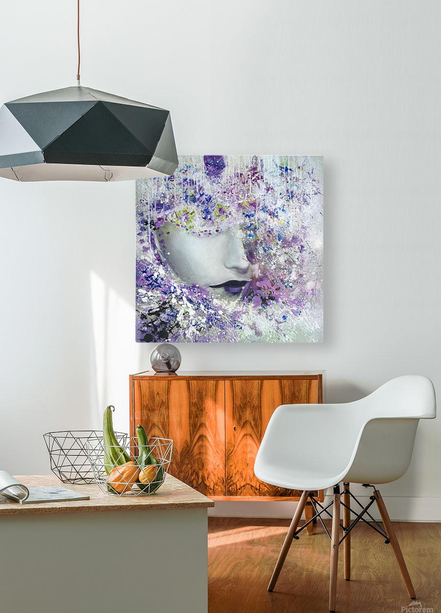femme  HD Metal print with Floating Frame on Back