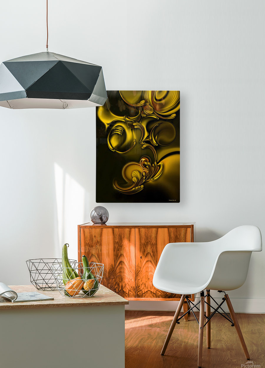 Abstraction With Meditation  HD Metal print with Floating Frame on Back