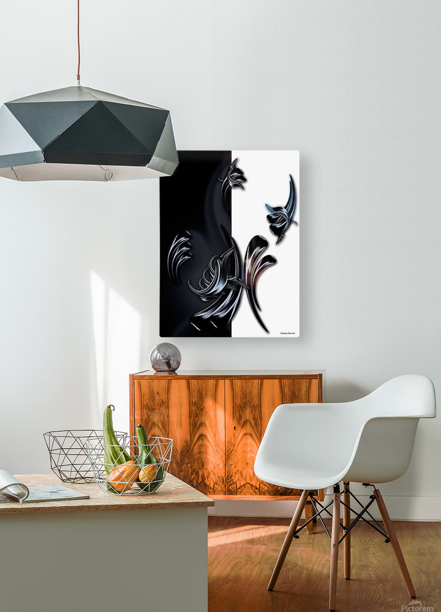 My Rising Projection  HD Metal print with Floating Frame on Back