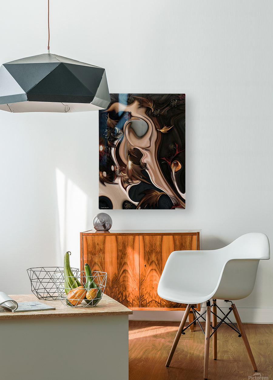 Autumnal Material  HD Metal print with Floating Frame on Back
