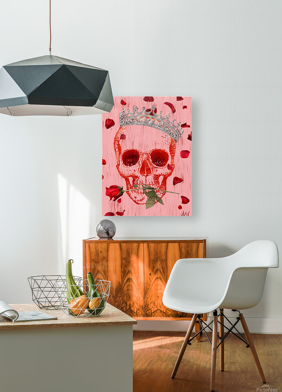 Charming Skull  HD Metal print with Floating Frame on Back