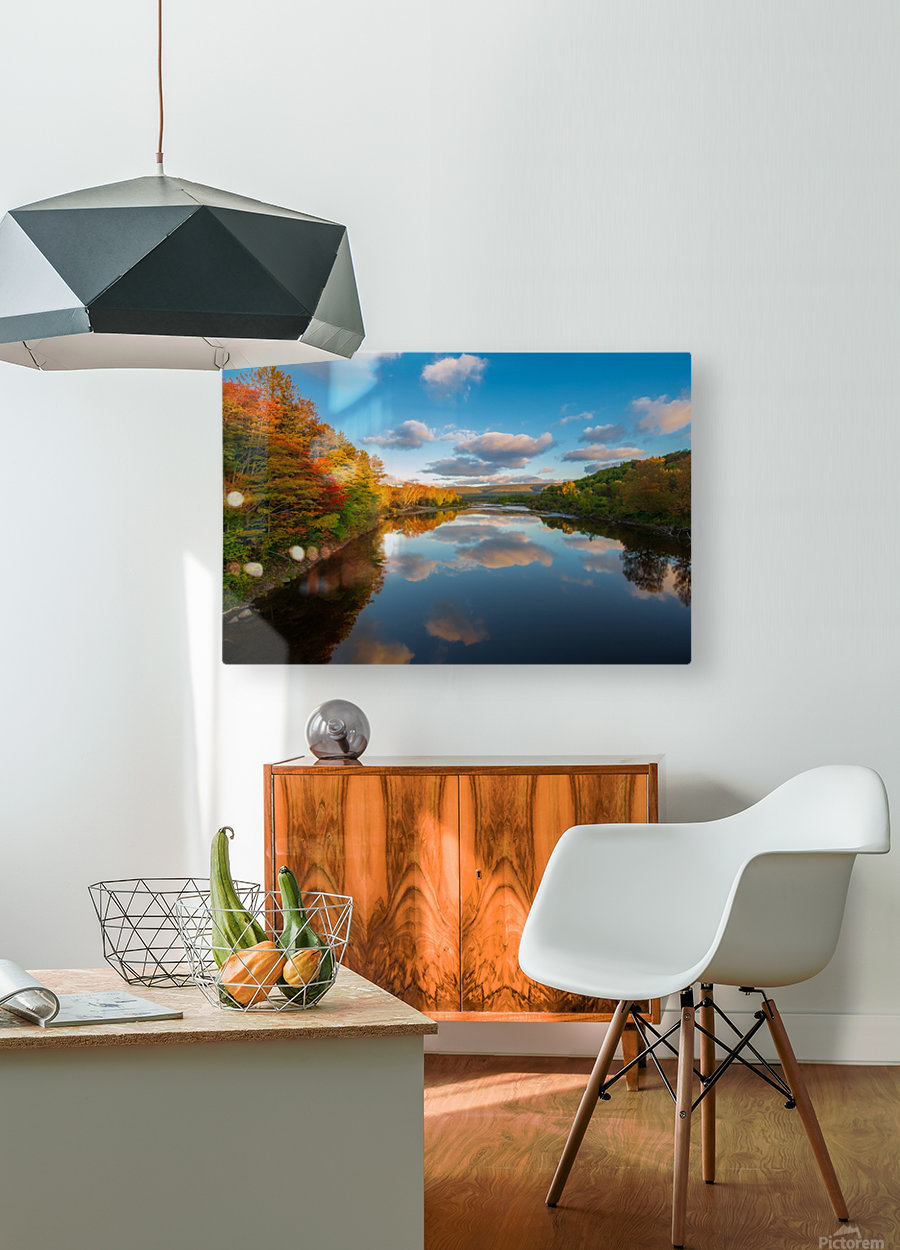 A Margaree Fall  HD Metal print with Floating Frame on Back