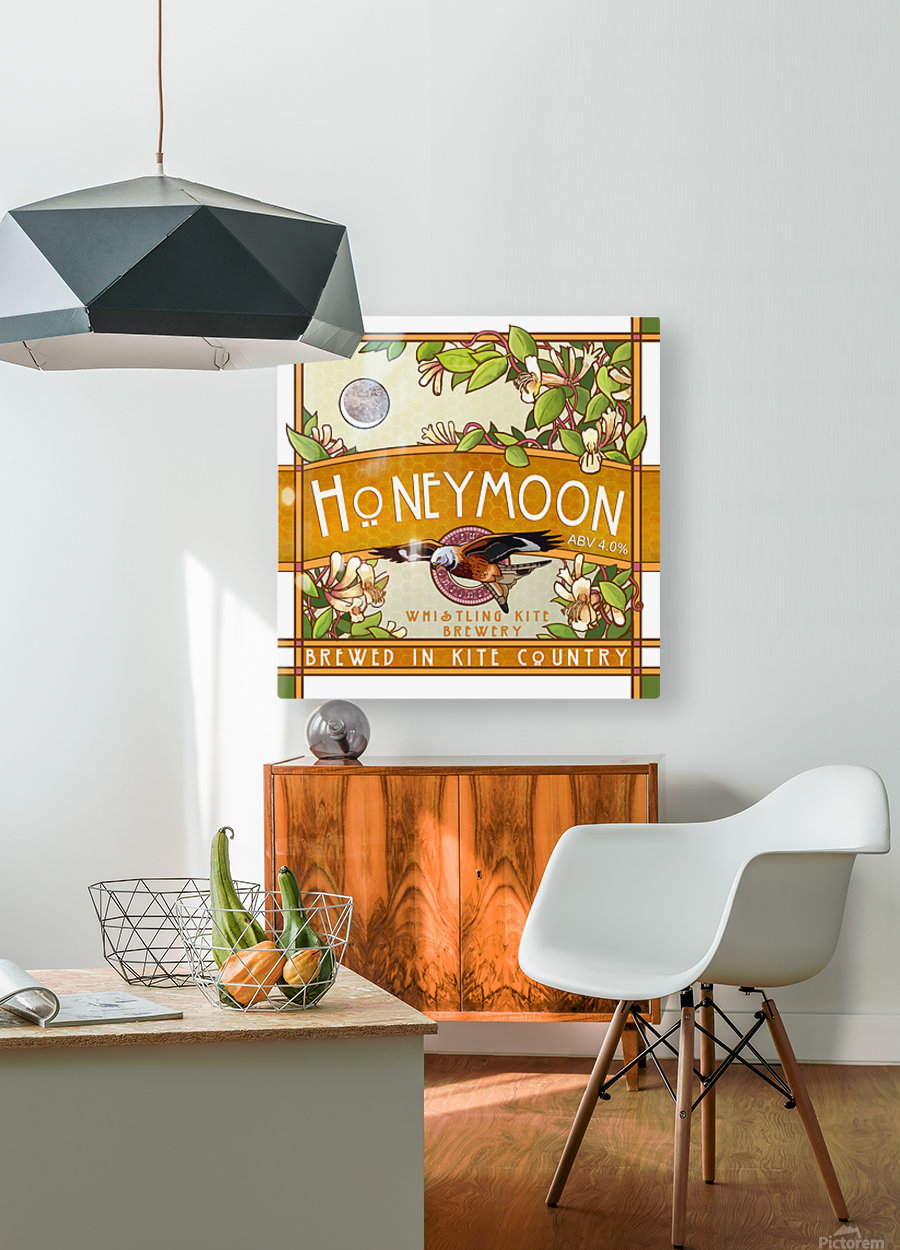 Whistling Kite Brewery: Honeymoon  HD Metal print with Floating Frame on Back