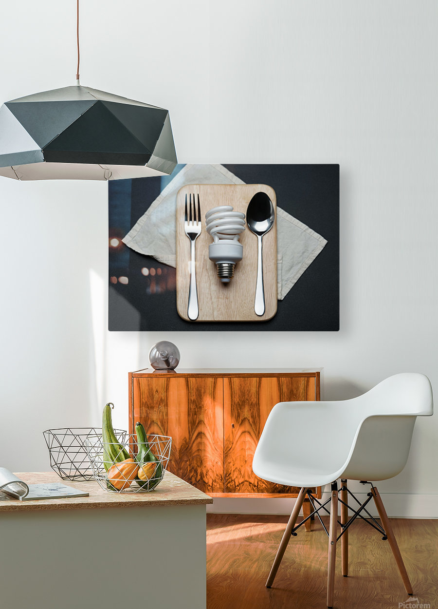 Energy  HD Metal print with Floating Frame on Back