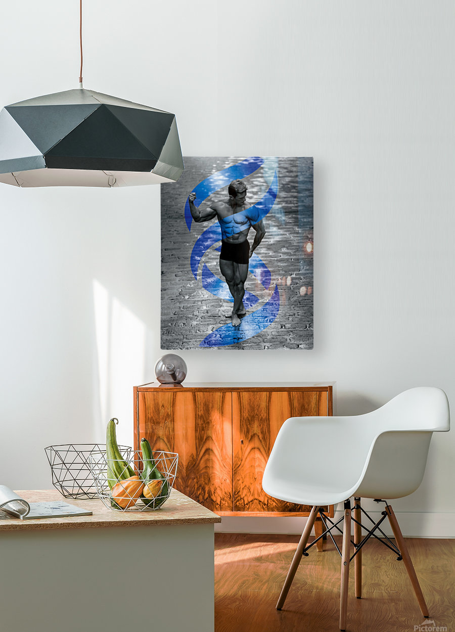 Cobble-Stone Physique with EAS DNA swirl   HD Metal print with Floating Frame on Back