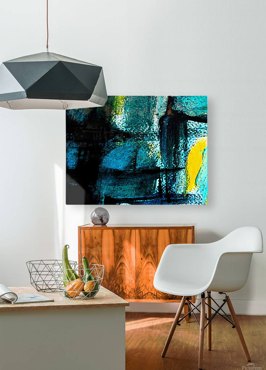 Abstract emotion   HD Metal print with Floating Frame on Back