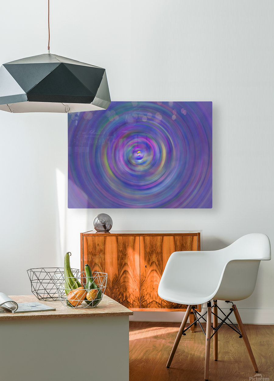 swirl color  HD Metal print with Floating Frame on Back