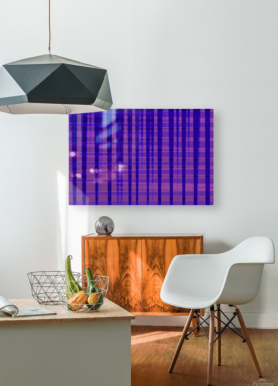 Abstract vioret  HD Metal print with Floating Frame on Back