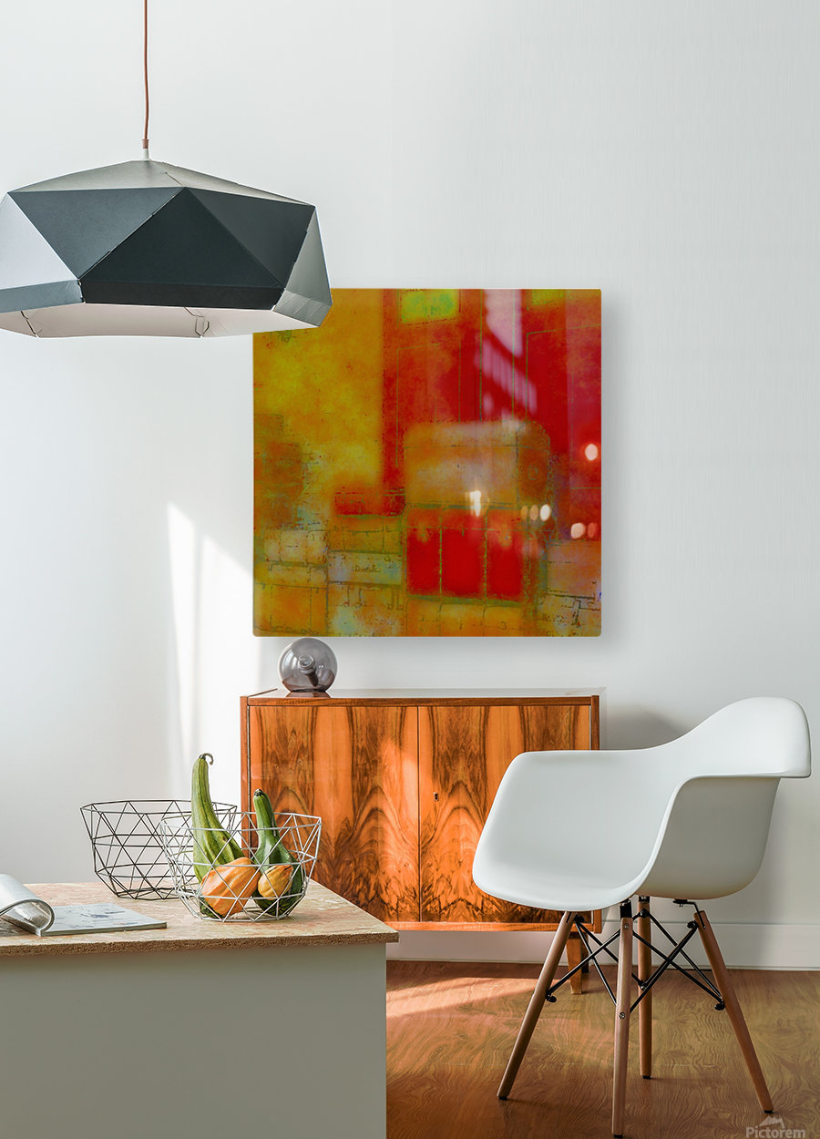 ARRIVALS  HD Metal print with Floating Frame on Back