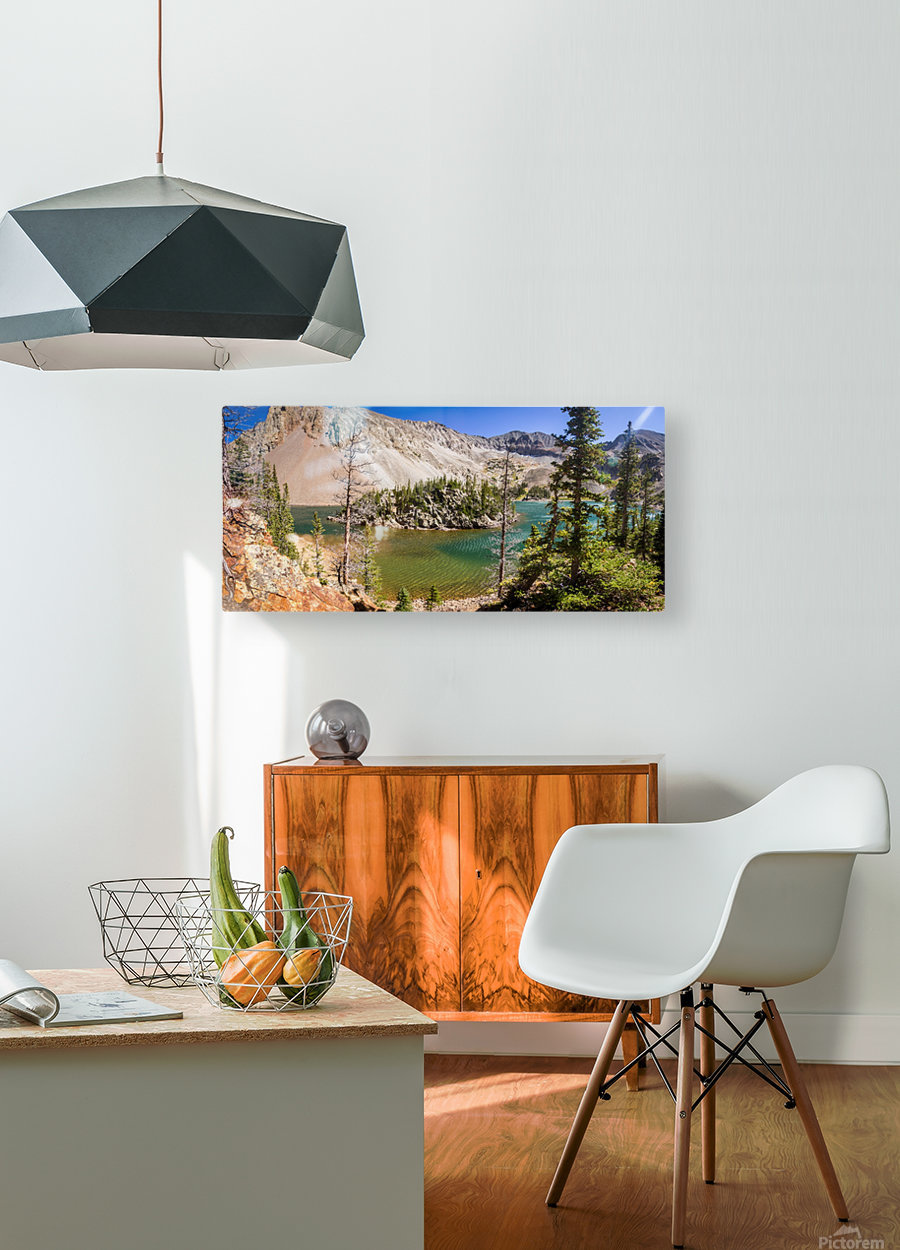Lake Agnes Colorado   HD Metal print with Floating Frame on Back