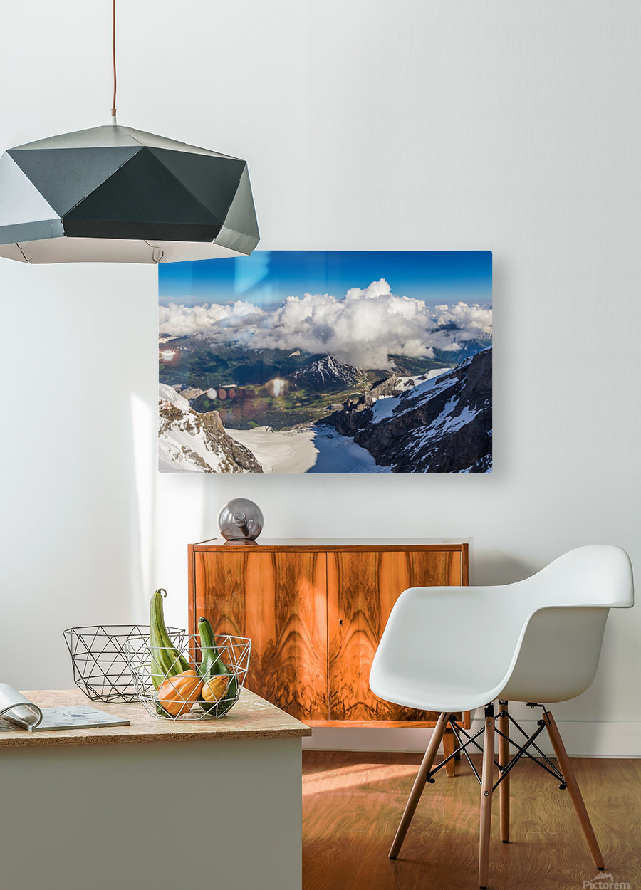 Above the Clouds  HD Metal print with Floating Frame on Back