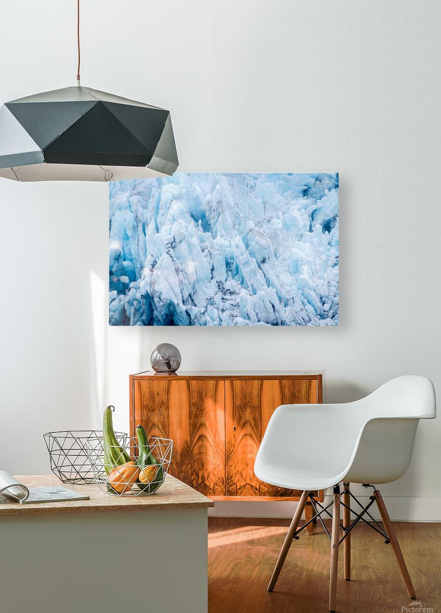 Alaska Gifts - Glacier Photographs  Impression métal HD avec cadre flottant sur le dos