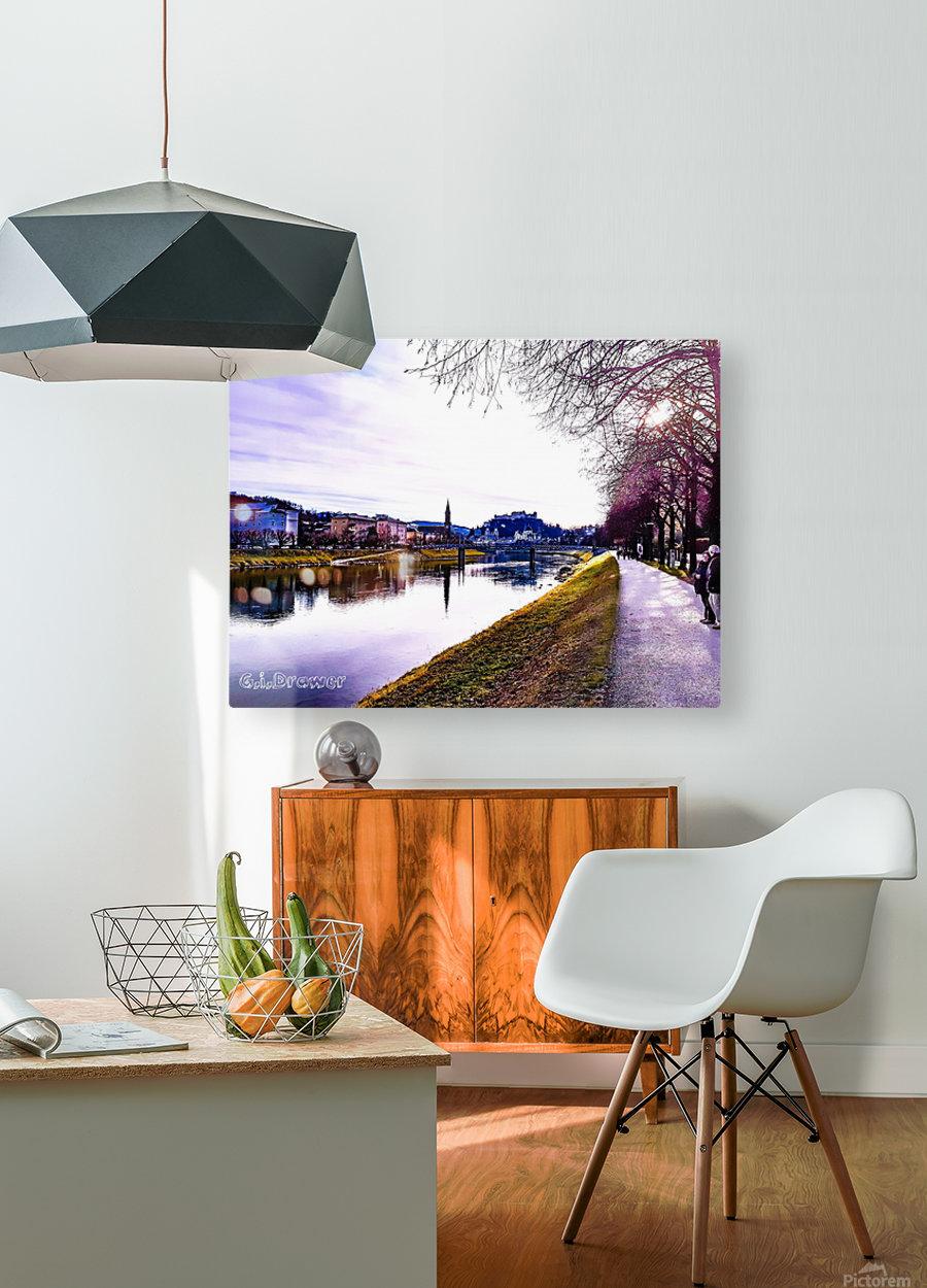 Nostalgie en couleur   HD Metal print with Floating Frame on Back