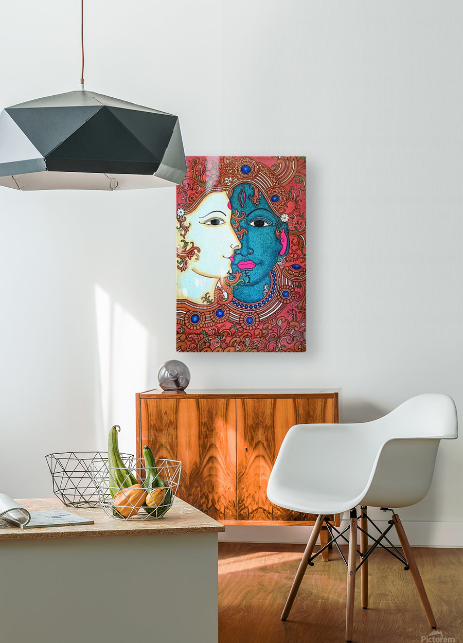 shiva  HD Metal print with Floating Frame on Back