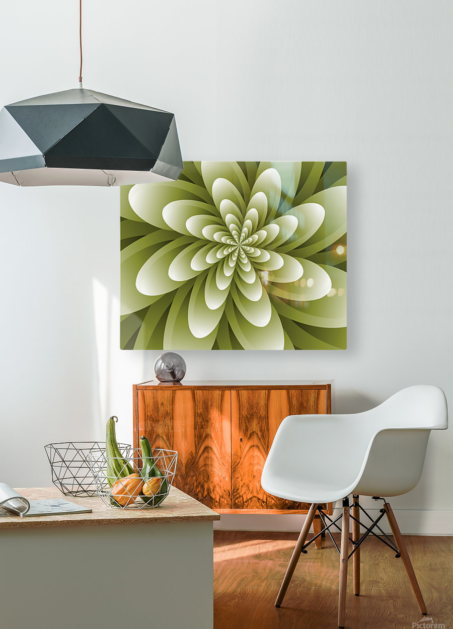 Greeny Feel  HD Metal print with Floating Frame on Back