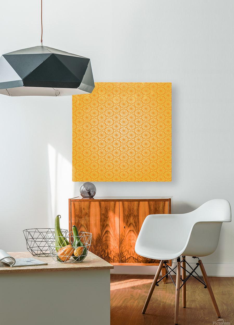 Orange Seamless Pattern Art  HD Metal print with Floating Frame on Back
