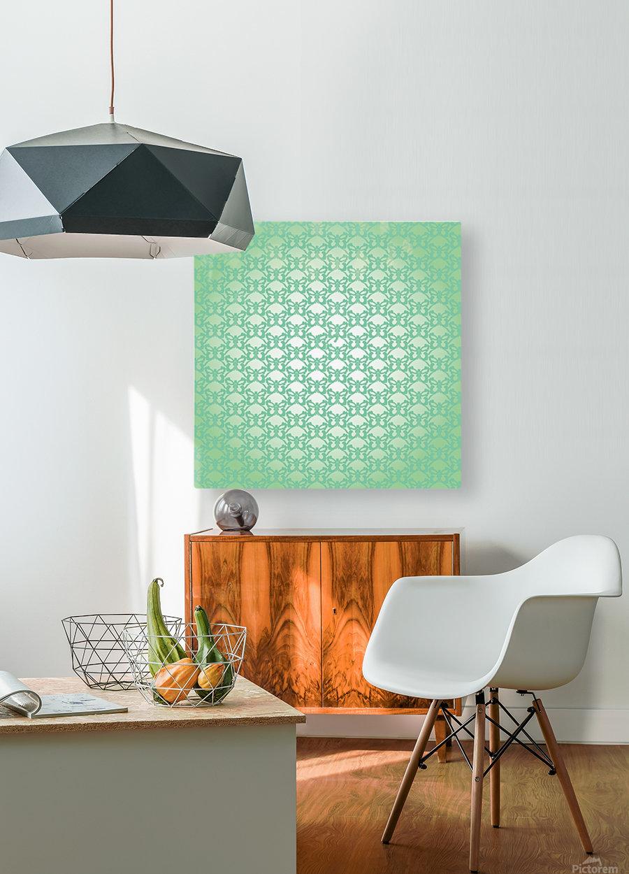 Ornamental Art Pattern Artwork  HD Metal print with Floating Frame on Back