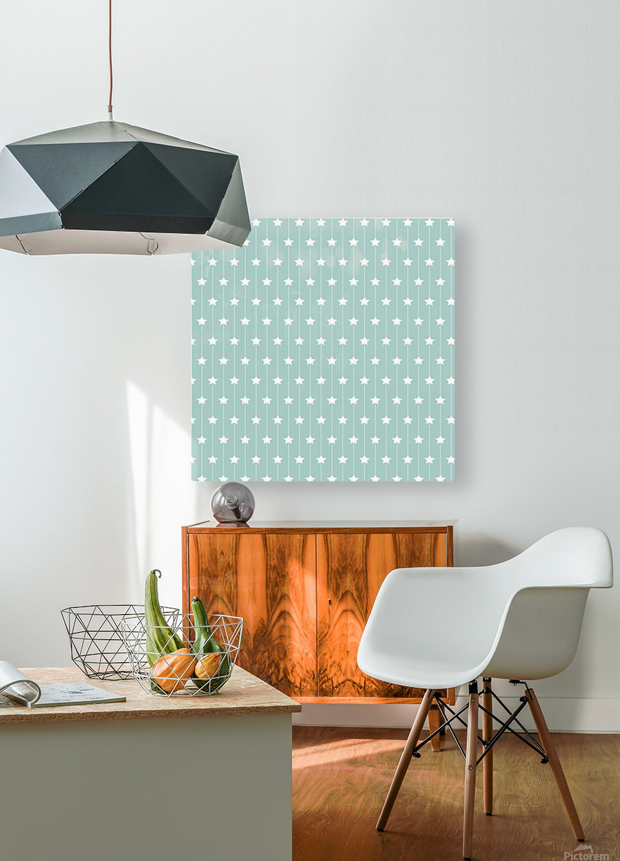 Star Seamless Pattern Art  HD Metal print with Floating Frame on Back
