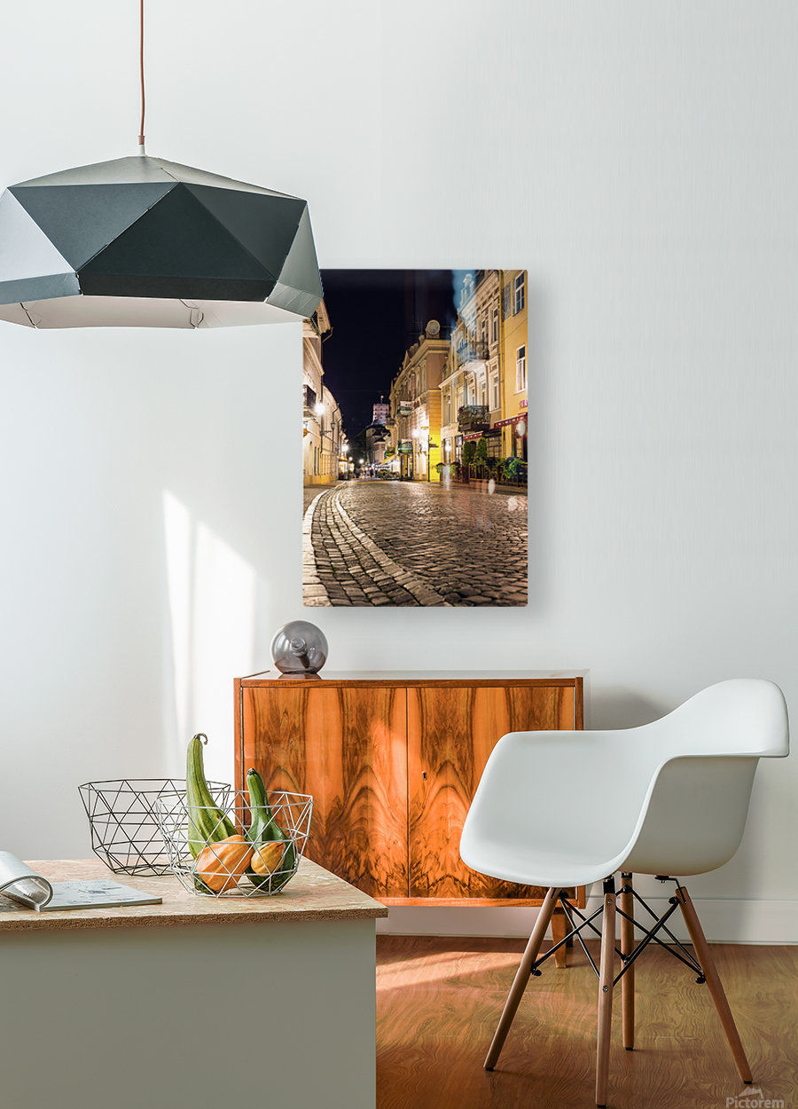 old town  HD Metal print with Floating Frame on Back
