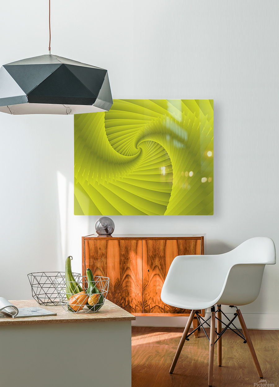 DNA  HD Metal print with Floating Frame on Back