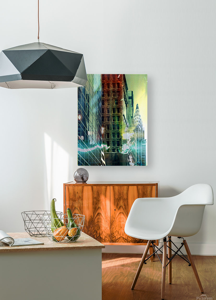 New York Street  HD Metal print with Floating Frame on Back