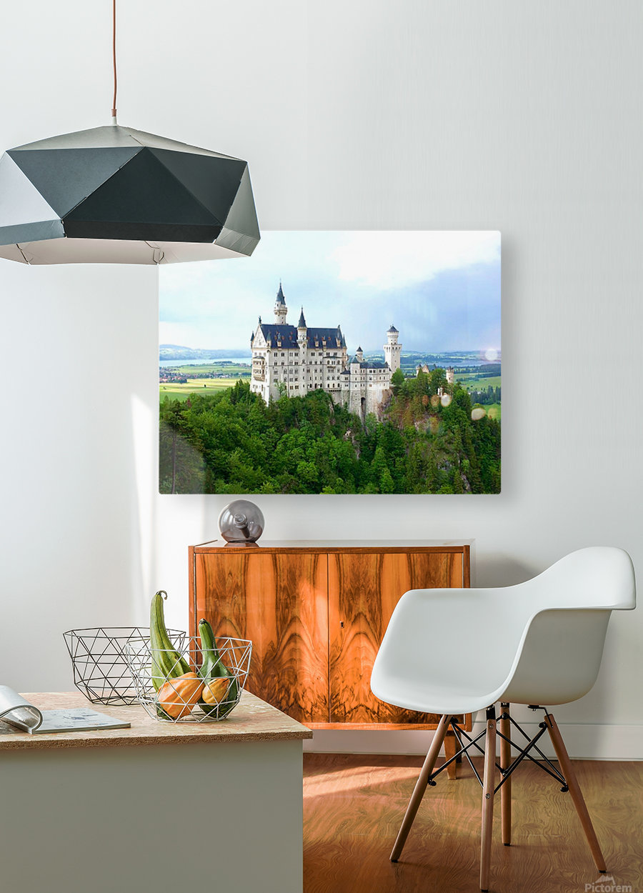 Nueschwanstein Castle  HD Metal print with Floating Frame on Back