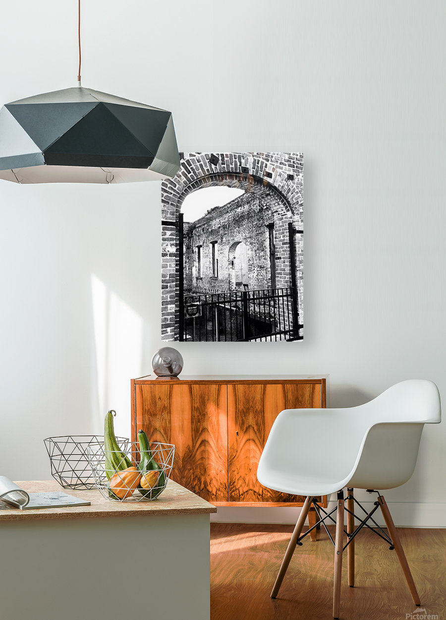 Window  HD Metal print with Floating Frame on Back