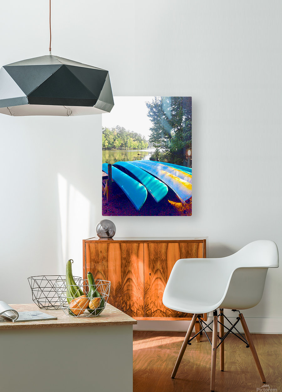 Lake Life  HD Metal print with Floating Frame on Back
