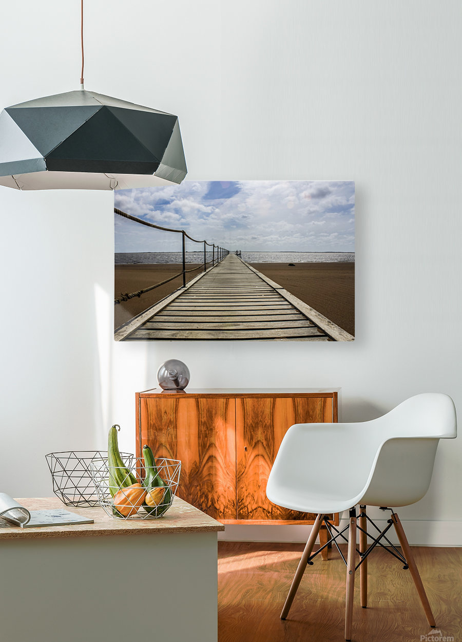 The Jetty  HD Metal print with Floating Frame on Back