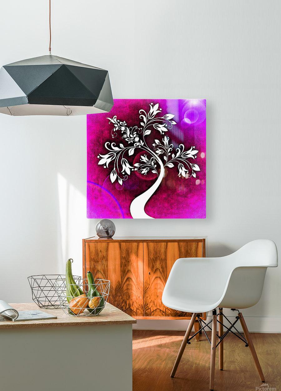 FLOWER TREE 04_OSG  HD Metal print with Floating Frame on Back