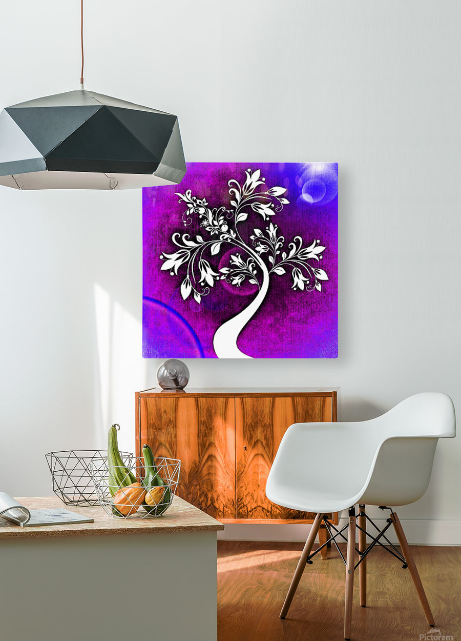 FLOWER TREE 01_OSG  HD Metal print with Floating Frame on Back