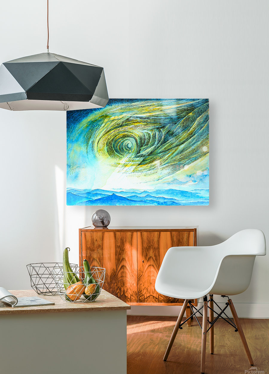 The sky 2  HD Metal print with Floating Frame on Back