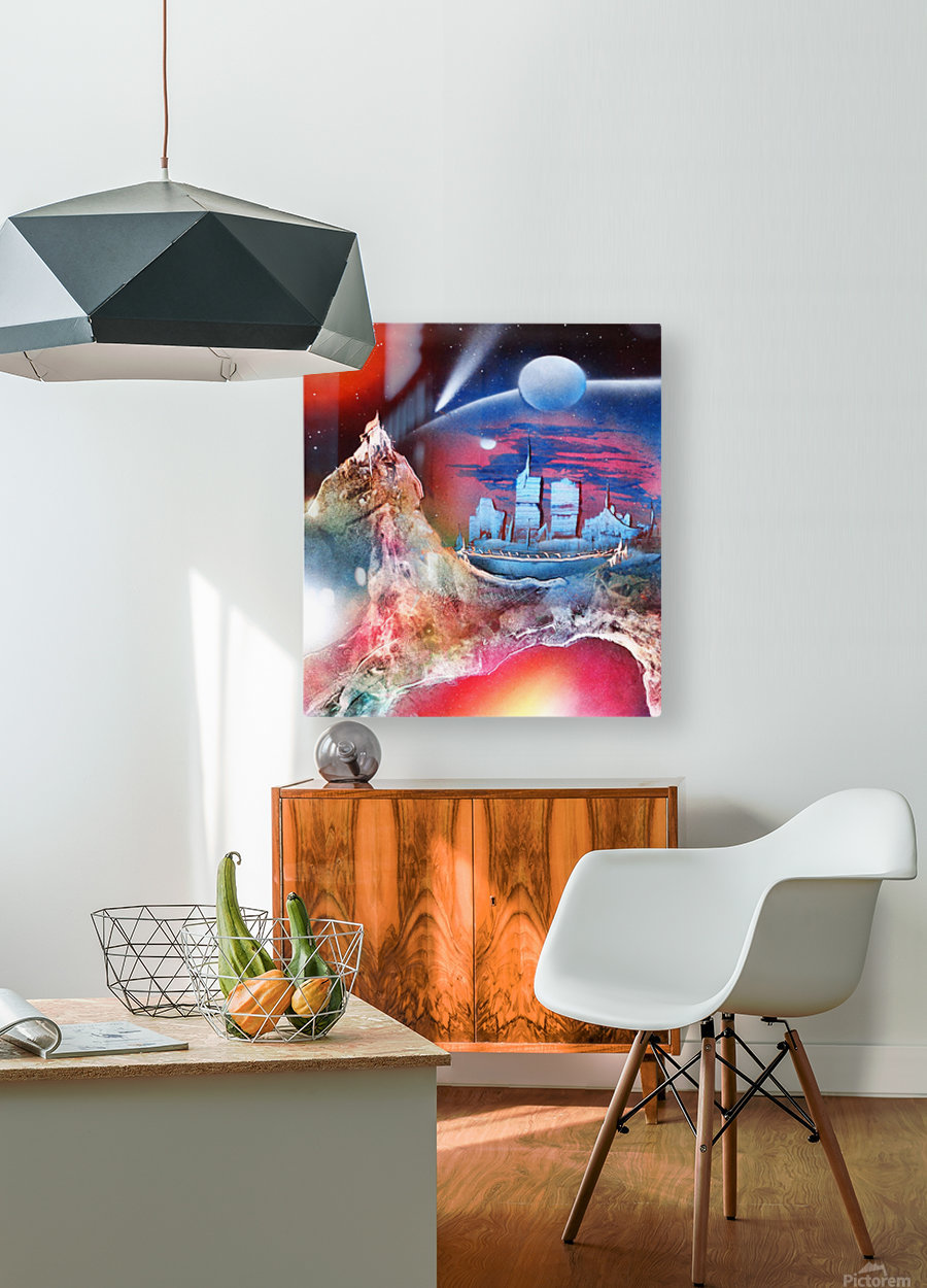City 3  HD Metal print with Floating Frame on Back