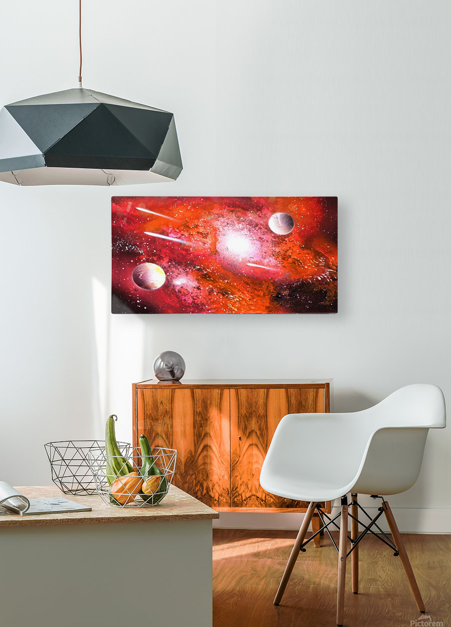Marigold galaxy  HD Metal print with Floating Frame on Back