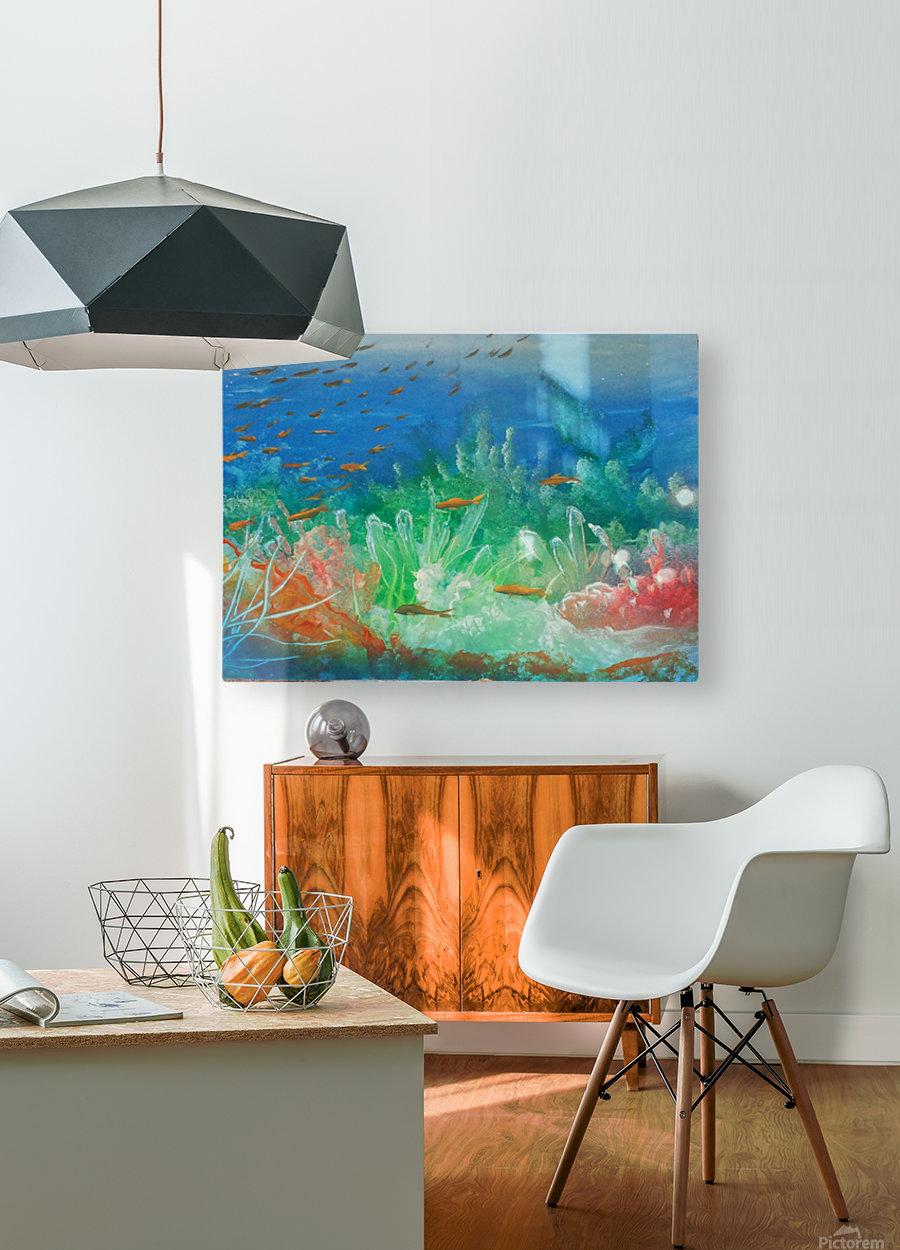 Fantasea  HD Metal print with Floating Frame on Back