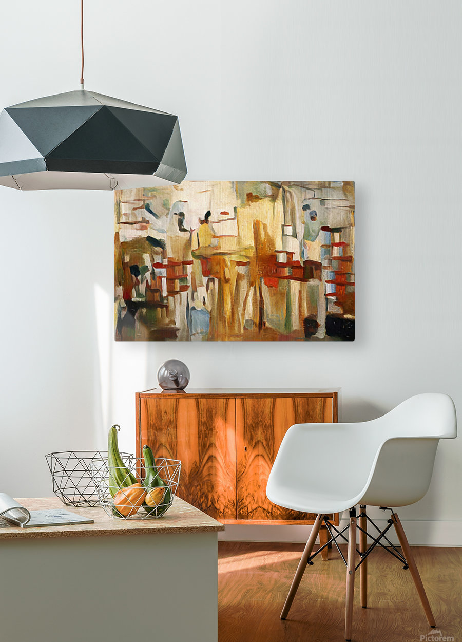 Rusty Shadows  HD Metal print with Floating Frame on Back