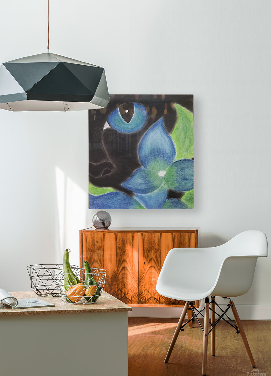 Mystery Cat  HD Metal print with Floating Frame on Back