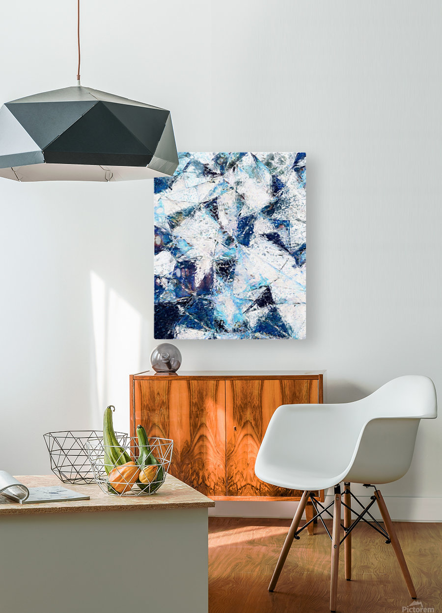 Exploding Panels  HD Metal print with Floating Frame on Back