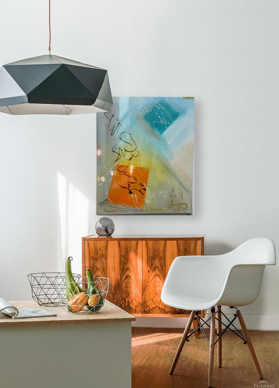 ahson qazikalmacalligraphy  HD Metal print with Floating Frame on Back