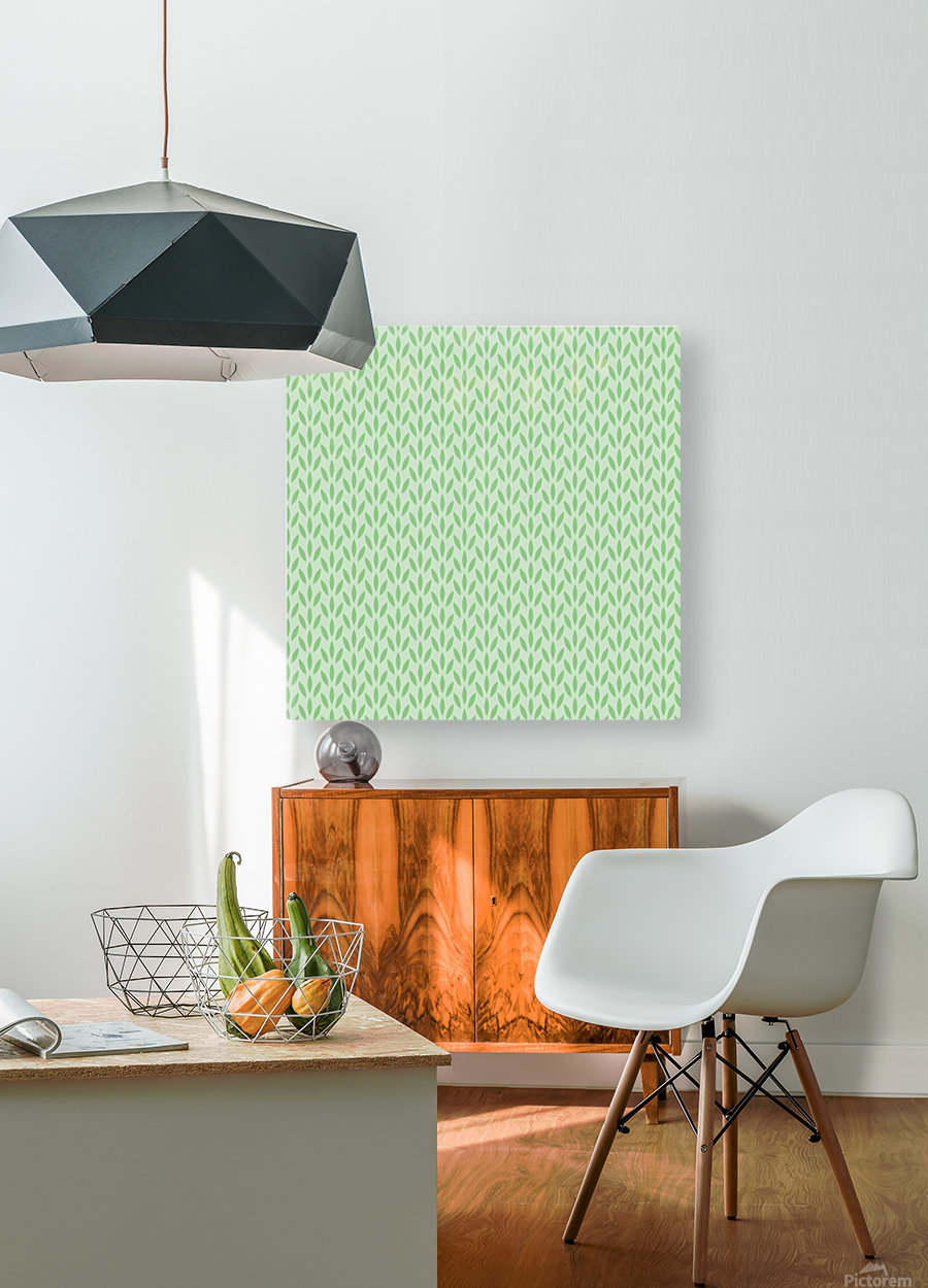 Green Flower Seamless Pattern Background  HD Metal print with Floating Frame on Back