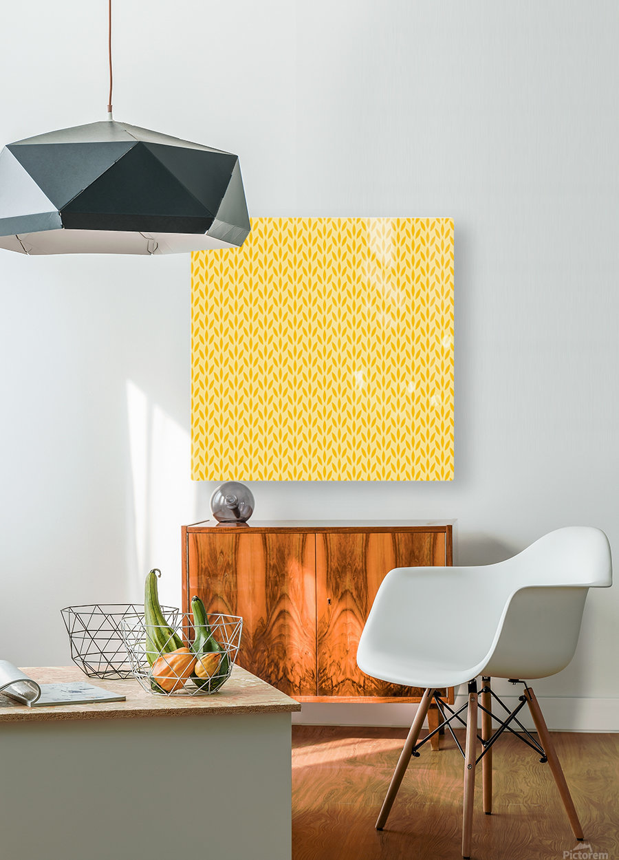 Yellow Flora  HD Metal print with Floating Frame on Back
